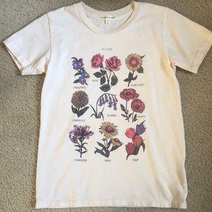 Flower print t shirt